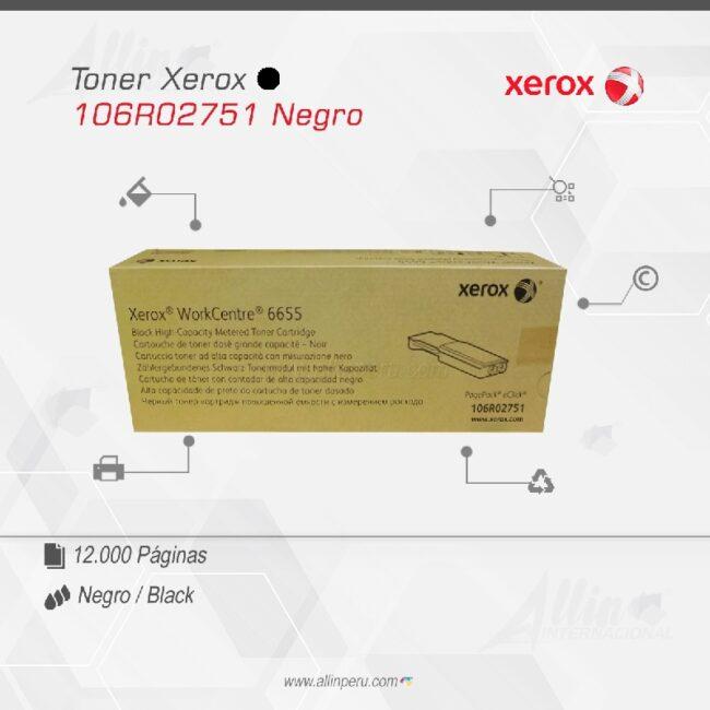 Toner Xerox 106R02751 Negro