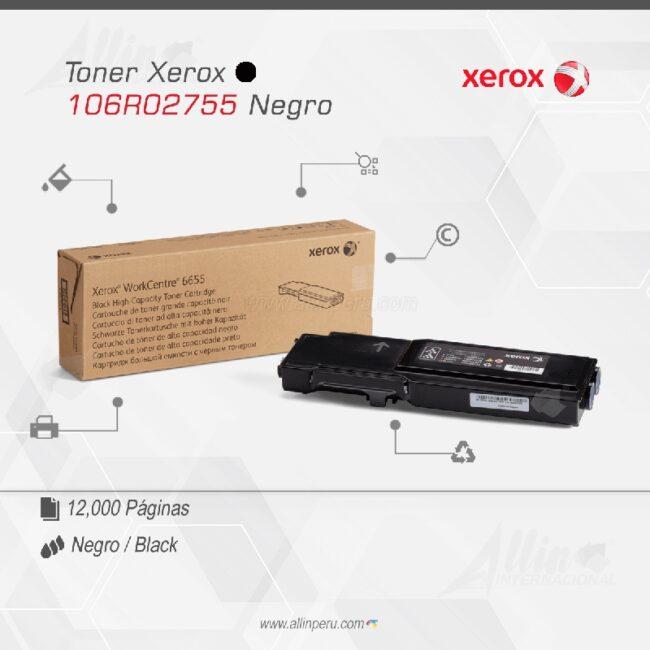 Toner Xerox 106R02755 Negro