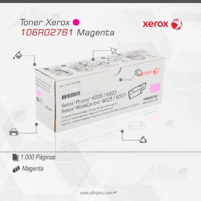 Toner Xerox 106R02761 Magenta
