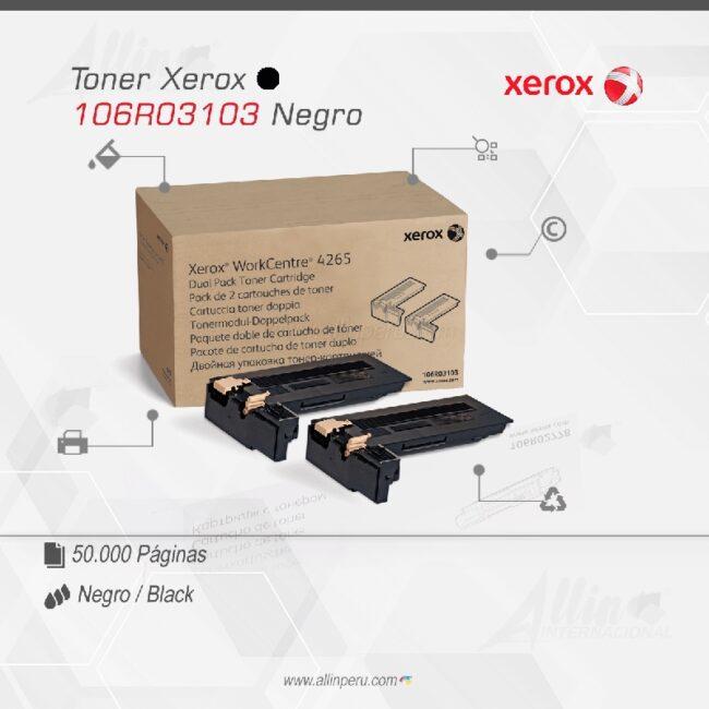 Toner Xerox 106R03103 Negro