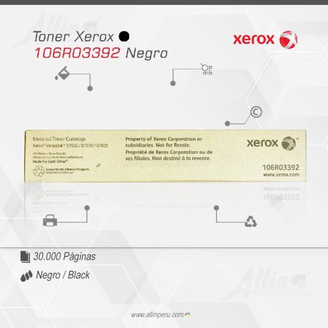 Toner Xerox 106R03392 Negro 15.000 Paginas
