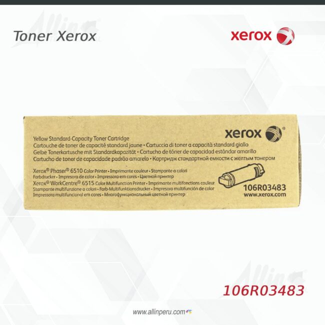 Toner Xerox 106R03483 Amarillo 1.000 Paginas