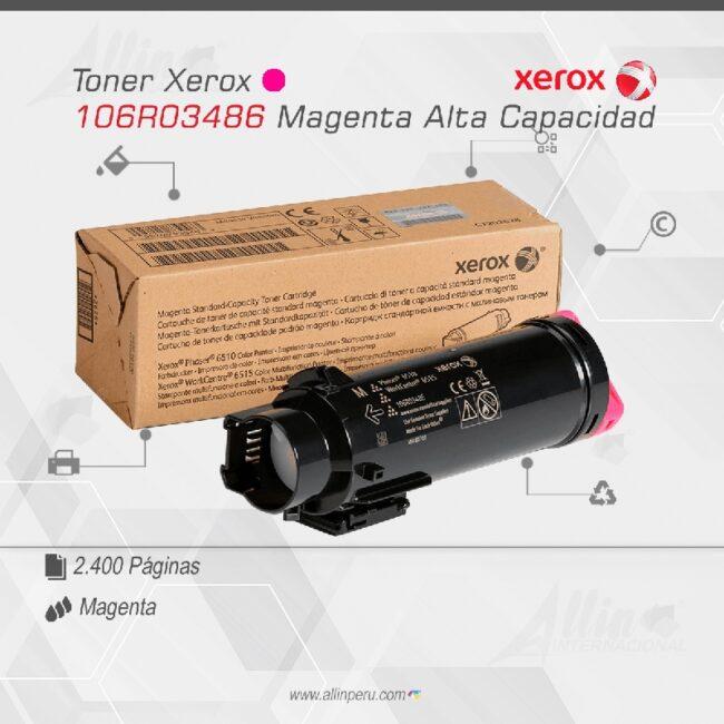 Toner Xerox 106R03486 Magenta