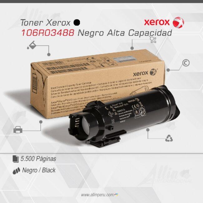 Toner Xerox 106R03488 Negro