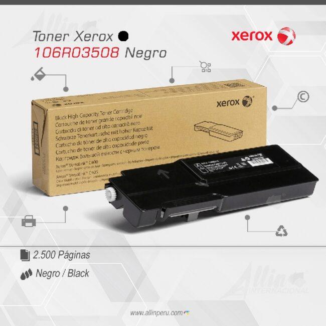 Toner Xerox 106R03508 Negro