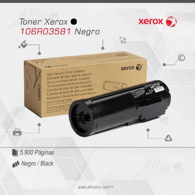 Toner Xerox 106R03581 Negro