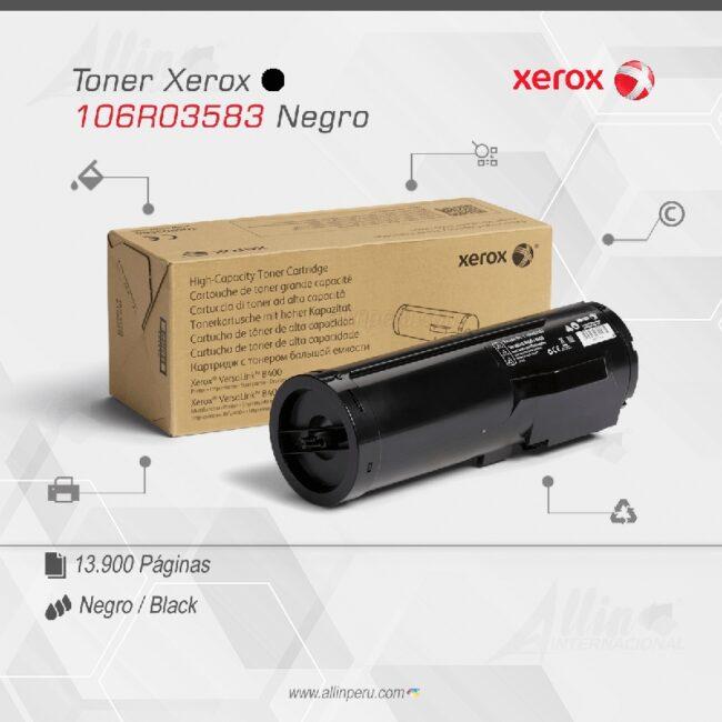 Toner Xerox 106R03583 Negro