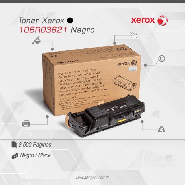 Toner Xerox 106R03621 Negro