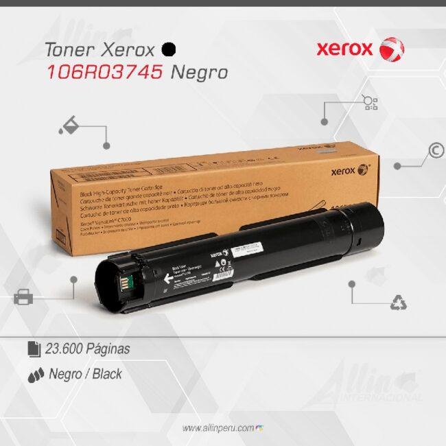 Toner Xerox 106R03745 Negro