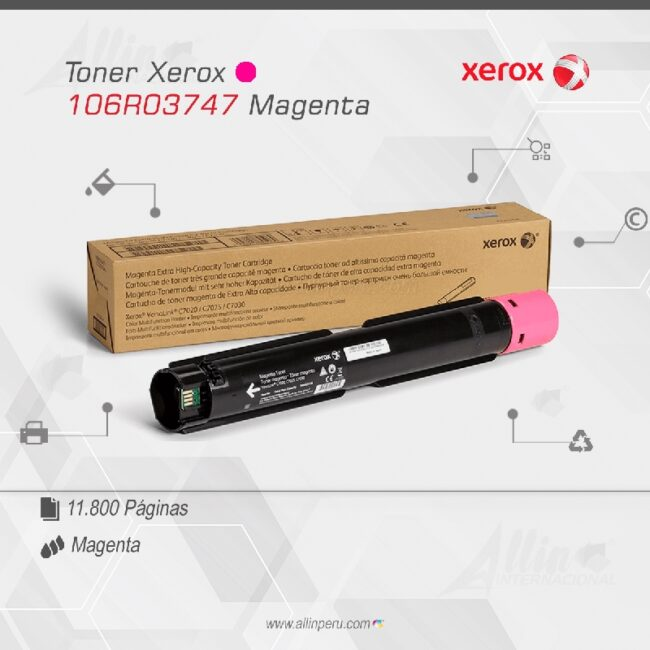 Toner Xerox 106R03747 Magenta