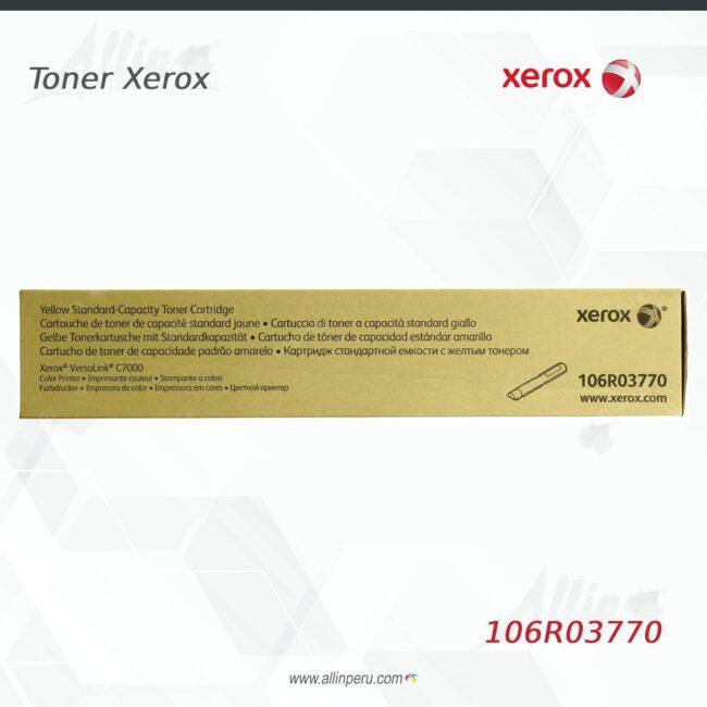 Toner Xerox 106R03770 Amarillo 3.300 páginas