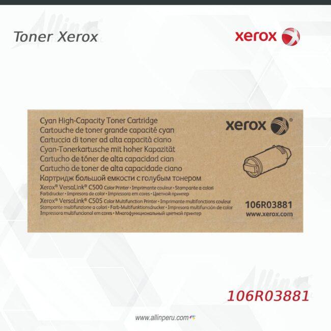 Toner Xerox 106R03881 Cian 5.200 páginas