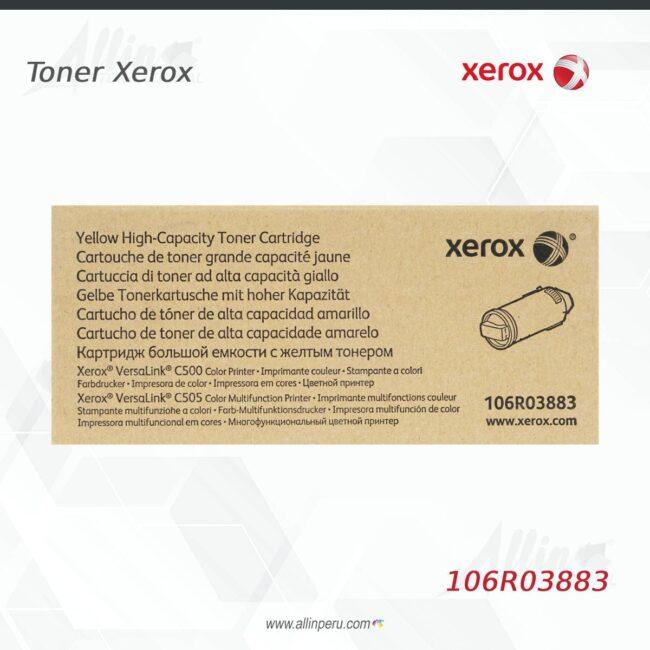 Toner Xerox 106R03883 Amarillo 5.200 páginas