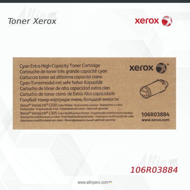 Toner Xerox 106R03884 Cian 9.000 páginas
