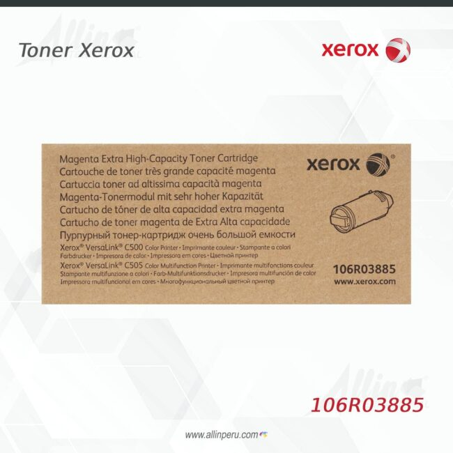 Toner Xerox 106R03885 Magenta 9.000 páginas
