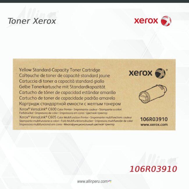 Toner Xerox 106R03910 Amarillo 6.000 páginas