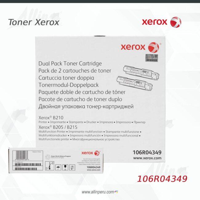Toner Xerox 106R04349 DUAL PACK 6.000 páginas